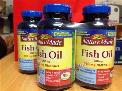 Dầu cá Omega-3 Fish Oil 1200 mg Nature Made - Cho 1 trái tim khỏe mạnh