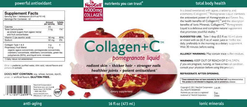 nước uống collagen + C Neocel  pomegranate liquid