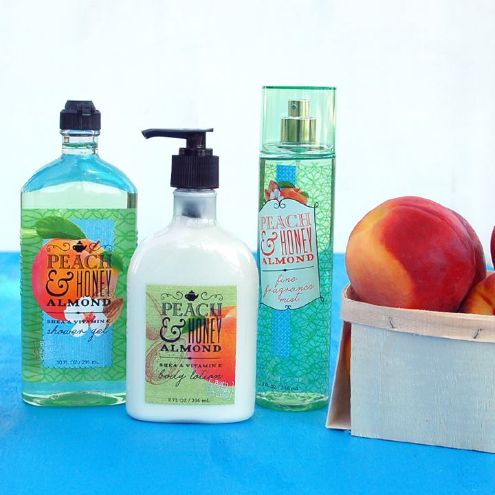 Set chăm sóc da bath n body work peach honey almond