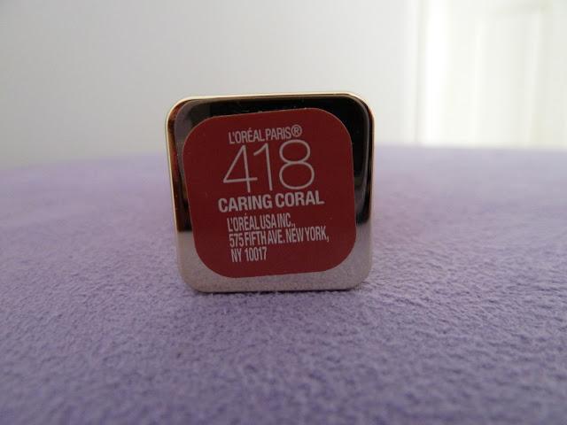 Son dưỡng môi L'Oreal Colour Riche Balm - 418 Caring Coral