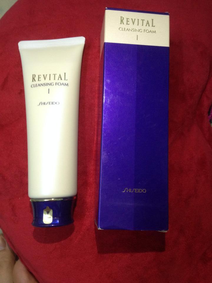 sữa rửa mặt shiseido revital cleansing foam nhật bản