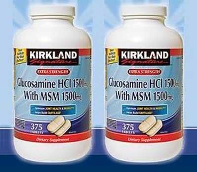 Thuốc bổ xương khớp Glucosamine 1500mg Kirkland 375 viên
