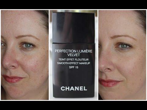 trước và sau khi dùng Kem nền Chanel Perfection Lumiere Velvet