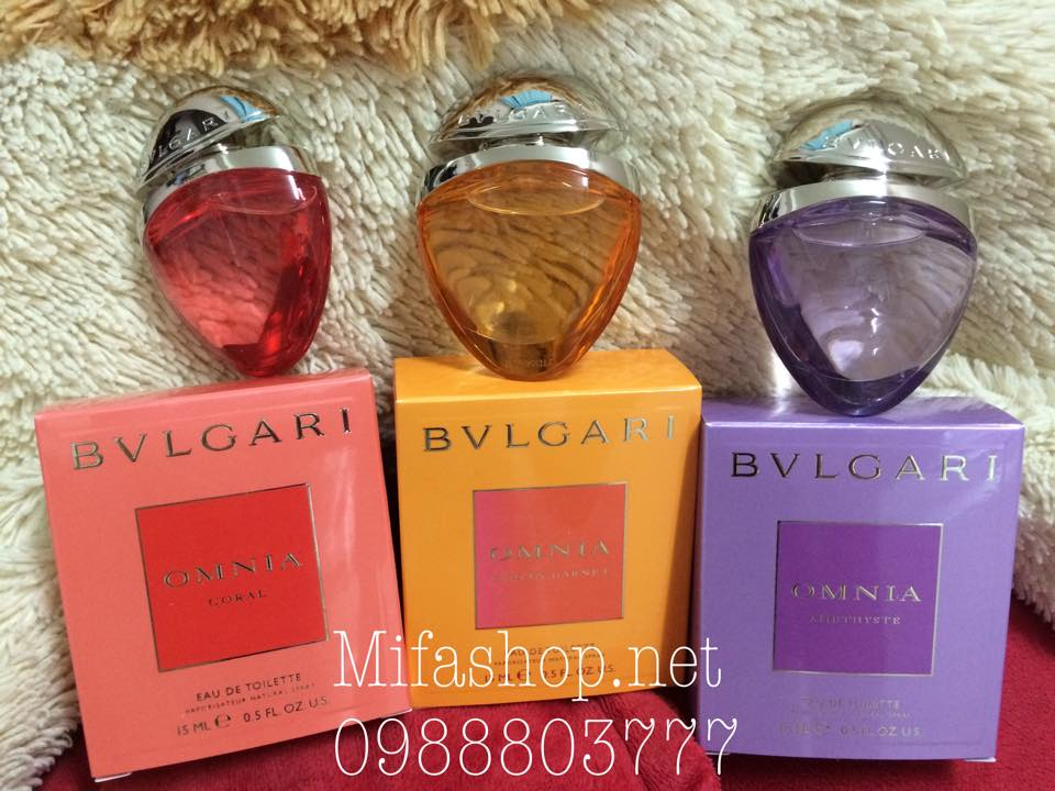 Bộ sưu tập nước hoa Bvlgari Omnia Jewel Charms 3 chai