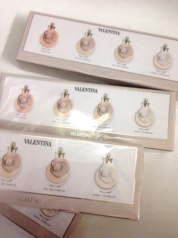 set quà tặng nước hoa Valentina valentino 4 chai