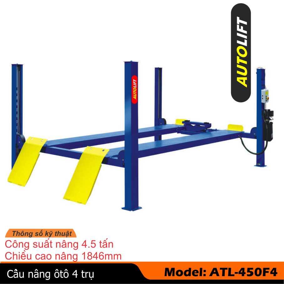 Cầu nâng, cầu nâng ô tô, cầu nâng 4 trụ,  thiết bị nâng xe ô tô