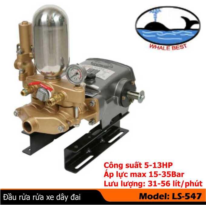 Đầu bơm rửa xe LS-547, Máy rửa xe JETTA, máy phun áp lực rửa xe