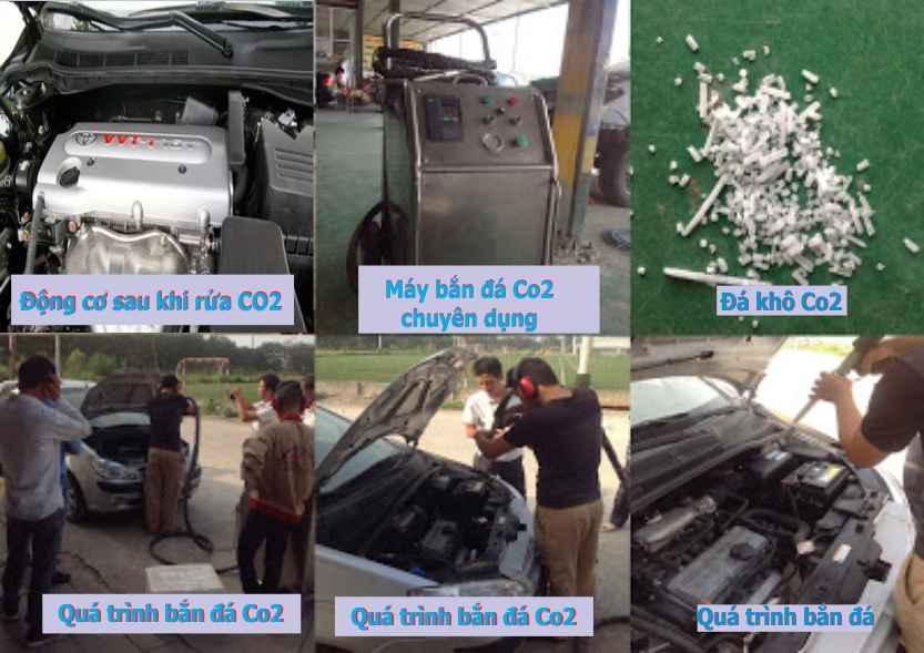 Máy rửa co2, máy bắn đá khô co2, rửa máy co2, rửa động cơ co2