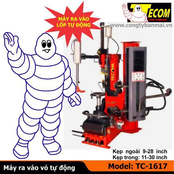 Máy ra vào lốp TC-1617, Máy ra vào lốp, Máy làm lốp, Máy vá vỏ xe tay ga, Máy ra vào lốp xe tay ga, máy ra vỏ tự động