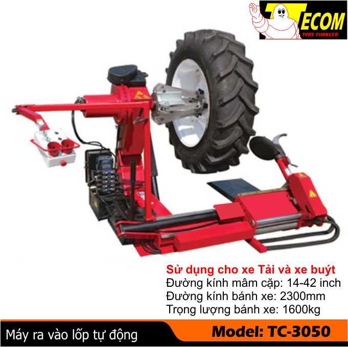 Máy ra vào lốp xe ô tô TC3050, may ra vao lop TC3050, Máy làm lốp, May lam lop