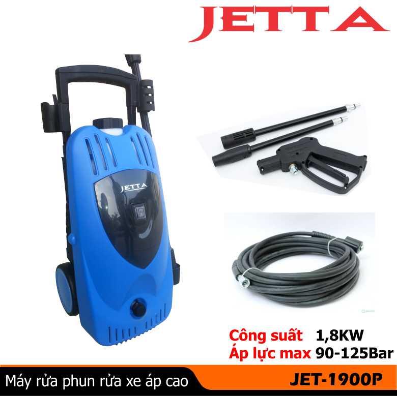 Máy rửa xe gia đình JET1900P, máy rửa xe mini JETTA, máy phun rửa xe áp lực cao