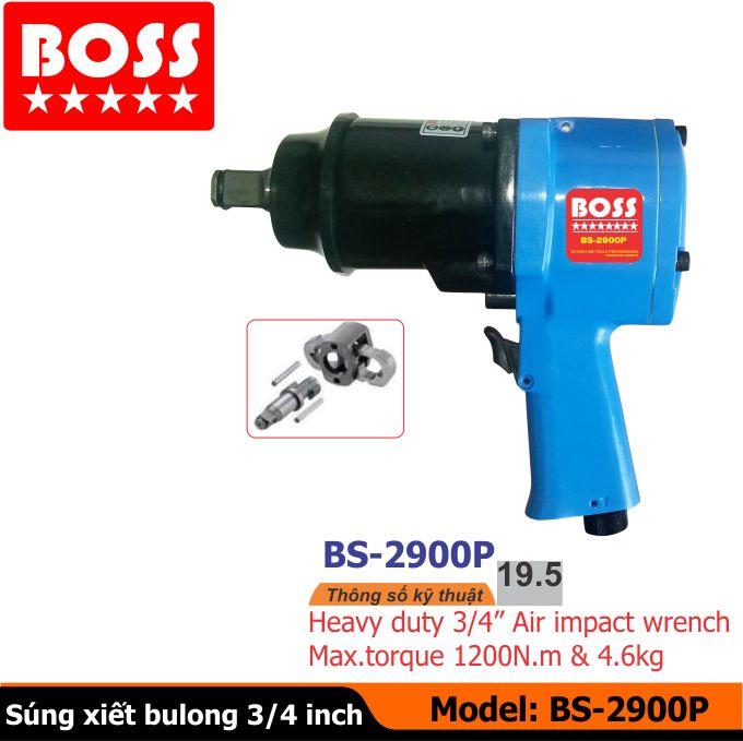 súng vặn bu-lông, súng xiết bu-lông, súng boss BS-2900P
