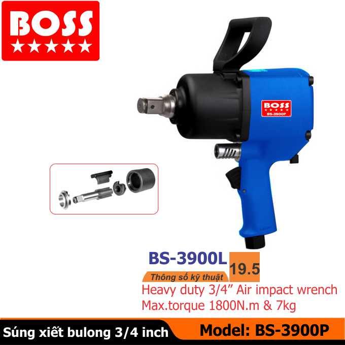 Súng vặn bu-lông BS-3900P, súng xiết bu-lông, súng mở ốc, dụng cụ khí nén