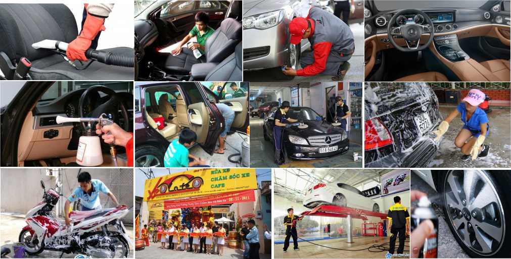 dung dịch chăm sóc xe hơi, làm sạch nội thất, vệ sinh nội thất ô tô, máy rửa xe bọt tuyết