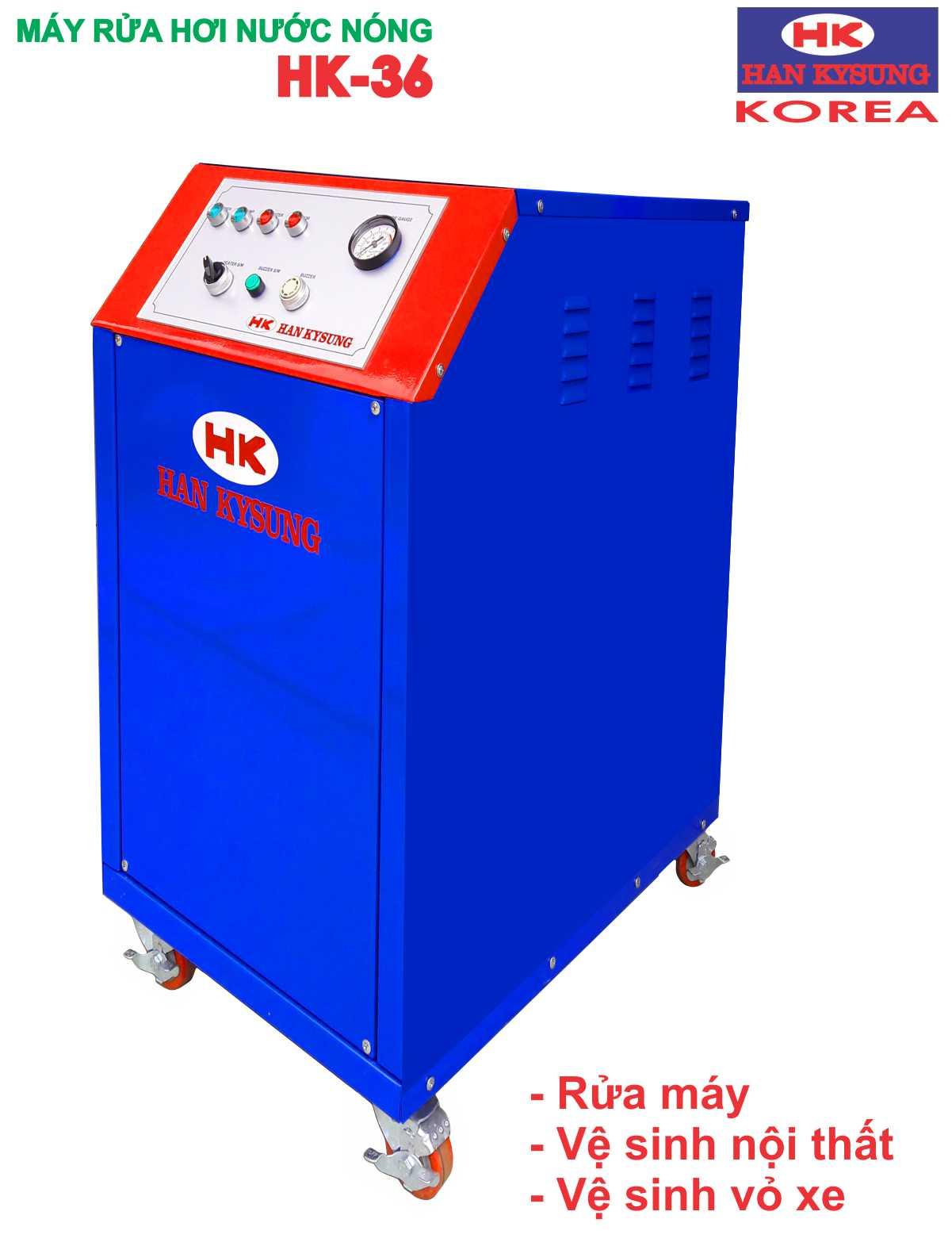 Máy rửa hơi nước nóng công suất 36 kw, rửa máy bằng hơi nước