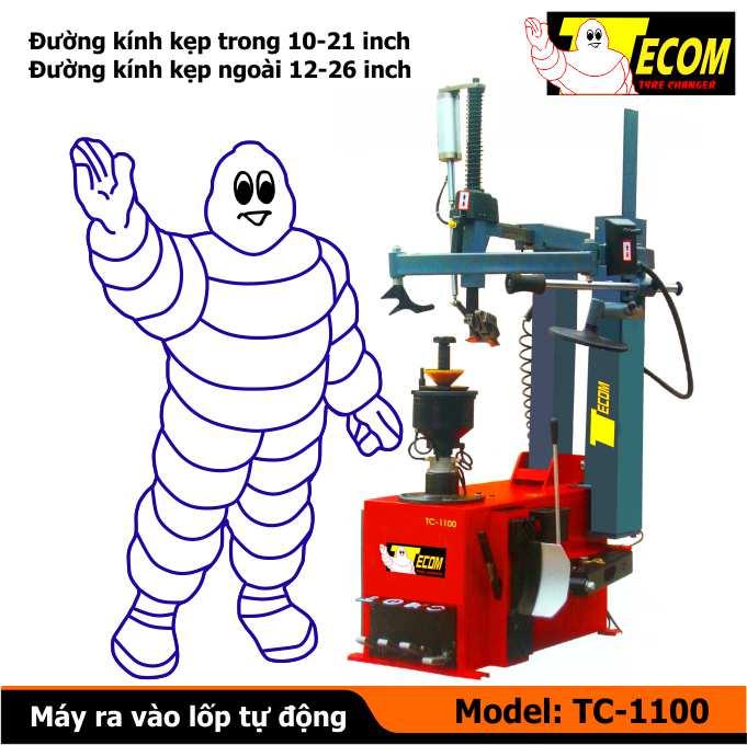 Máy ra vào lốp xe tải TC1100, máy ra vào vỏ xe con tự động, máy tháo vỏ tự động