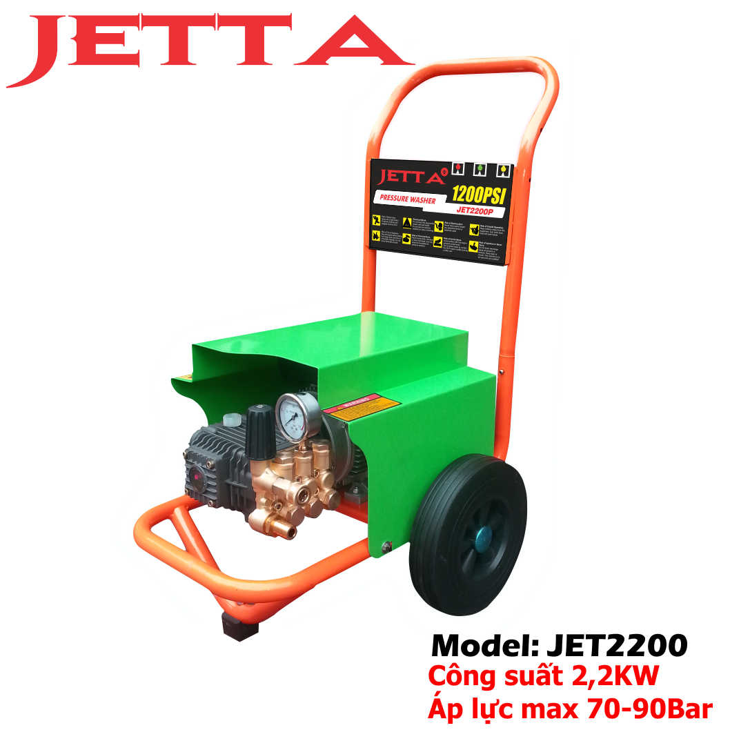 máy rửa xe ô tô 2,2kw, máy xịt rửa xe, máy phun rửa áp lực cao jetta