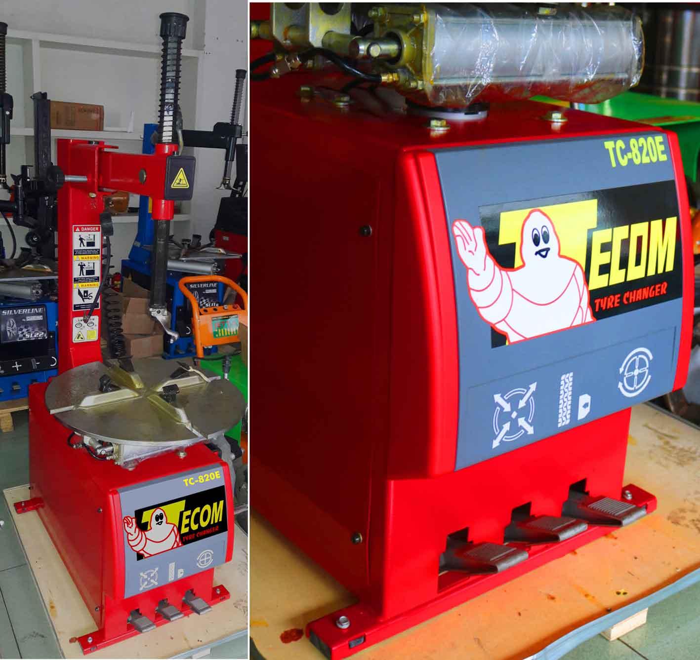 máy tháo vỏ xe tayga TC820, Máy ra vào lốp xe máy TC820