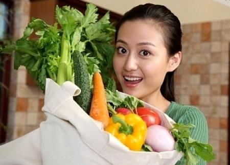 Ăn nhìu salad và rau xanh