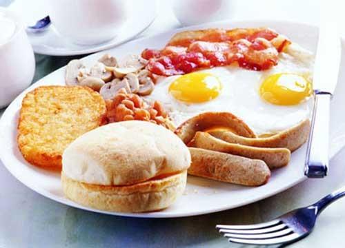 bữa sáng hoành tráng hơn