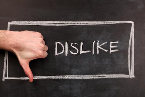social media dislike