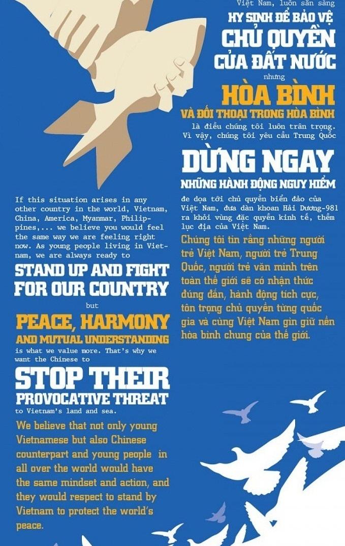 [Infographic] Thông điệp hòa bình của những người trẻ Việt Nam