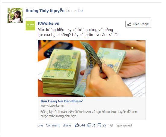 Facebook Ad newsfeed
