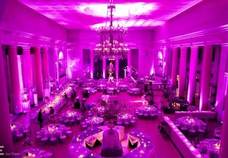 trang trí màu tím cho sự kiện