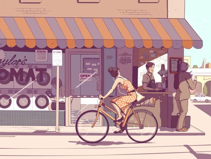 Những bức tranh minh họa đầy nắng của Guy Shield