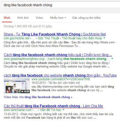 SERP Tăng like Facebook nhanh chóng