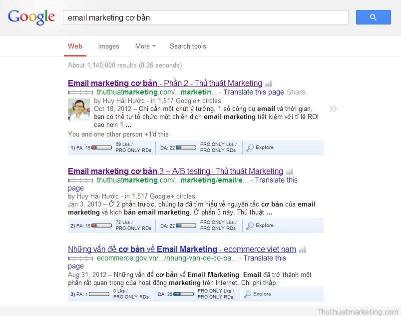 thu thuat marketing - seo email marketing co ban