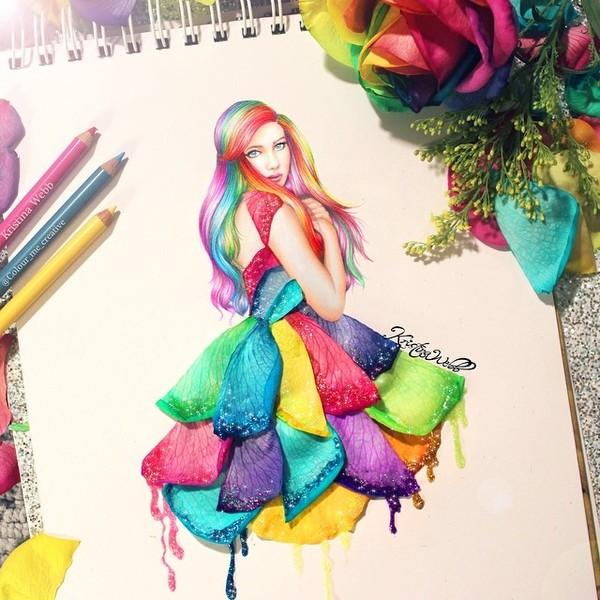 Tự do sáng tạo cùng tranh tương tác đẹp mê ly của nữ họa sĩ 19 tuổi