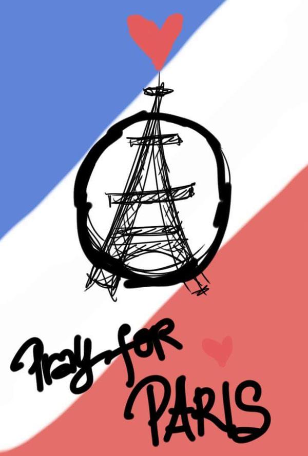 Bộ tranh Pray for Paris đầy ý nghĩa được vẽ bằng bút S Pen