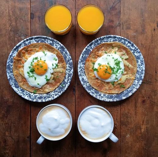 Thích mắt với những bữa ăn sáng đối xứng đầy tinh tế và quyến rũ
