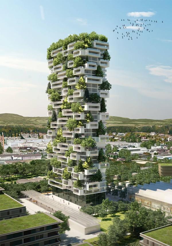 Tòa nhà chọc trời phủ cây xanh cao nhất thế giới