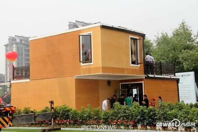 Kỹ sư Trung Quốc xây dựng nhà từ công nghệ in 3D trong vòng 3 tiếng.