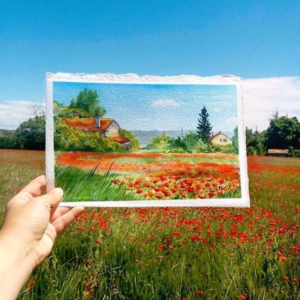 Khám phá cảnh đẹp thế giới qua bộ sưu tập tranh màu nước lung linh