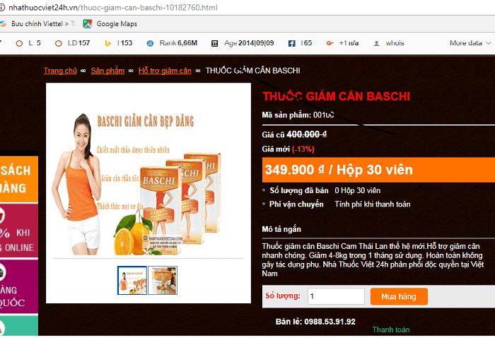mua thuốc giảm cân baschi cam