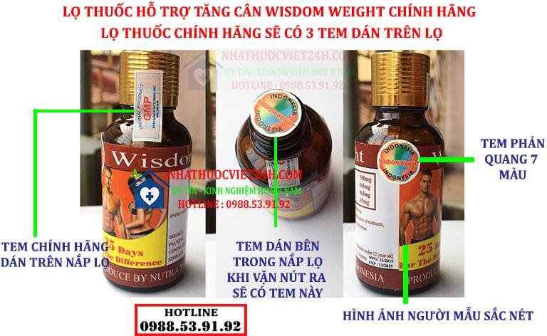 thuốc tăng cân wisdom weight hàng thật