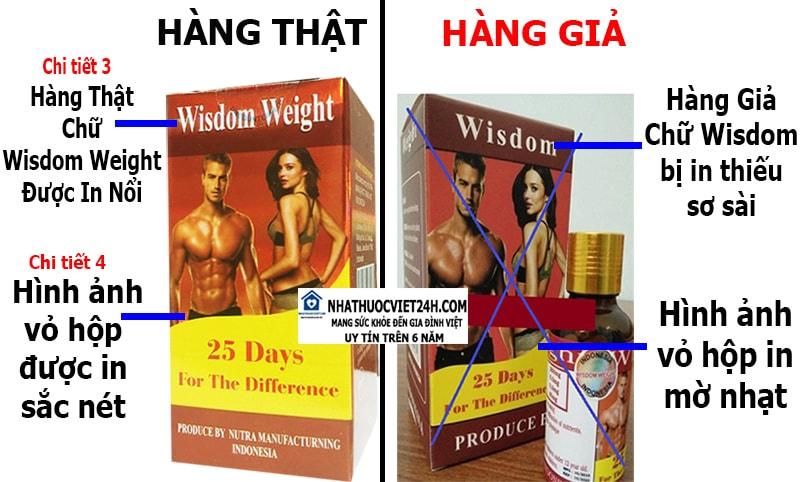 cách phân biệt thuốc tăng cân wisdom weight