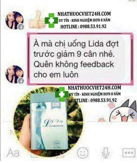 review thuốc giảm cân lida