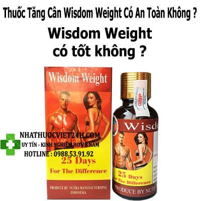 phản hồi sử dụng thuốc tăng cân wisdom weight