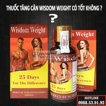 review thuốc tăng cân wisdom weight
