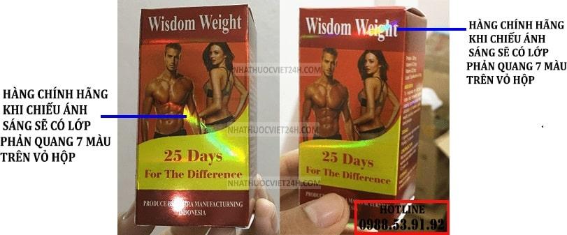 wisdom weight thật giả