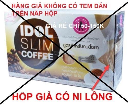 idol slim coffee thật giả