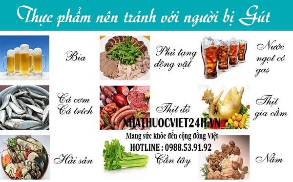 bệnh gout nên kiêng ăn gì