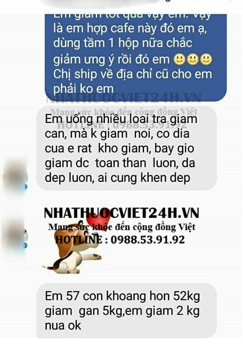 Review cafe giảm cân idol slim