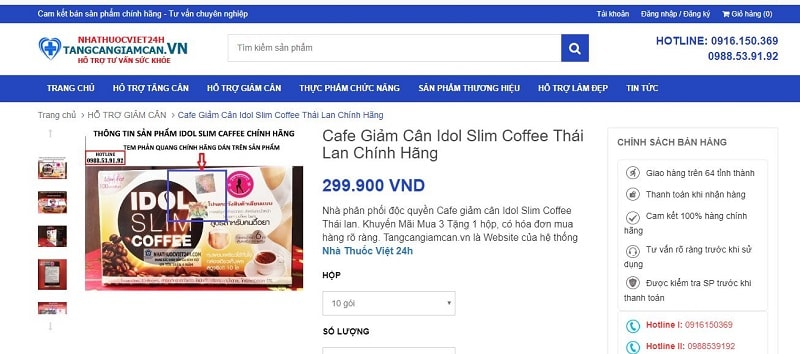 mua idol slim coffee ở đâu