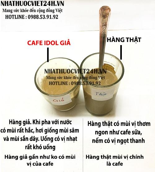 idol slim coffee có mùi gì