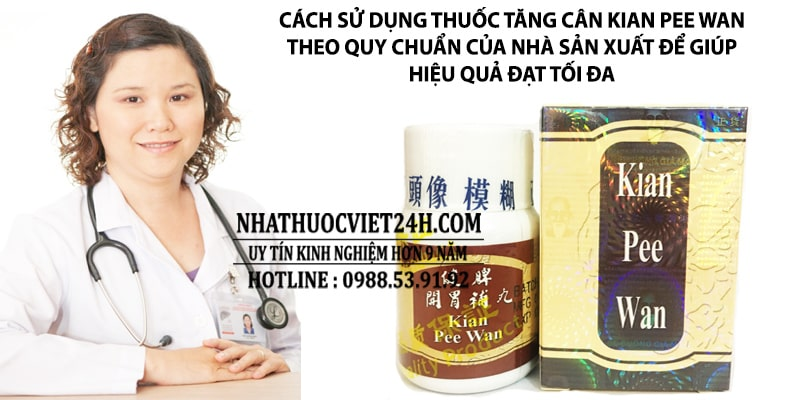 cách uống kian pee wan